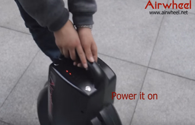 How to ride Airwheel Q3 Electric Unicycle and personal transporter